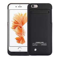 Apple Iphone 6/6S PLUS 4200 Mah Battery Charging Case With Stand - Black