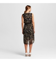 Merona Women's Fairytale Floral Shirt Dress - Black - Size: Small