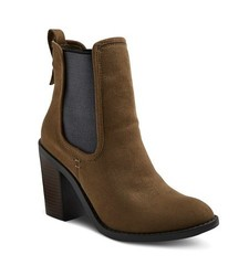 Merona Women's Charli Booties - Olive - Size: 8.5