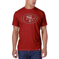 NFL San Francisco 49ers Men's Crew Neck T-Shirts - Red - Size: X-Large