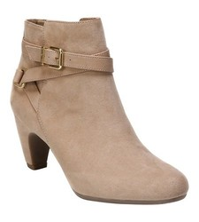 Sam & Libby Women's Mable Buckle Ankle Booties - Tan - Size: 9