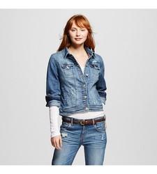 Mossimo Women's Denim Jacket - Blue - Size: X-Large