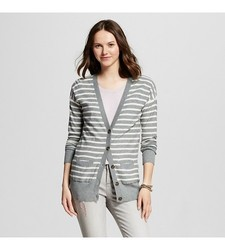 Mossimo Supply Women's LongSleeves Boyfriend Cardigan - Gray - Size: Large