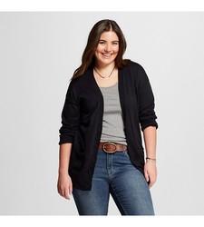 Mossimo Women's Plus Size Cardigans - Ebony - Size: Small