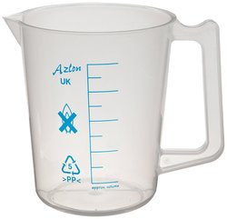 Azlon Polypropylene Intermediate Form Graduated Beaker - 500mL