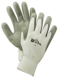 Magid Polyethylene/Polyester Glove Pack of 12 Pairs - Gray - Size: 6