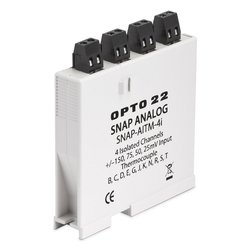 Opto 22 SNAP Isolated Analog Input Module with 4-Channel Thermocouple