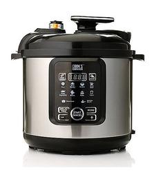 Cook's Companion 6.3 Qt Ceramic 11 in 1 Digital Pressure Cooker - Black