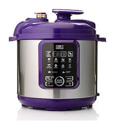 Cook's Companion 6.3 Qt Ceramic 11 in 1 Digital Pressure Cooker - Red