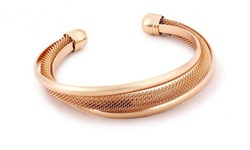 Capri Moon Rose Gold Italian Design Mesh Cuff Bracelet