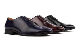 Signature Men's Wholecut Oxford Dress Shoes: Black/12