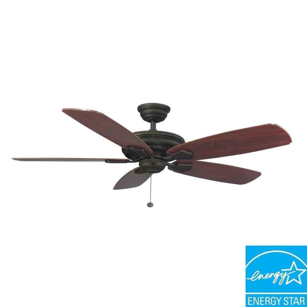 Fan Hampton Bay 51218 Heirloom 52 Outdoor Oil Rubbed Bronze Ceiling