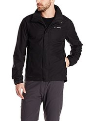 VAUDE Men's Escape Light Bike Rain Jacket, Black, 3X-Large