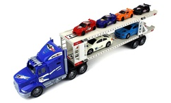 Power Express Trailer Children's Friction Toy Truck - Blue