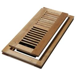 "Decor Grates 4""x12"" Floor Register Maple Flush Mount - Wood Natural"