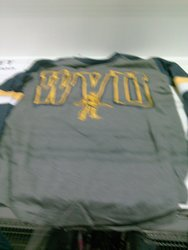 Knights Apparel - Long Sleeve Shirt - WVU Grey - Size: Medium