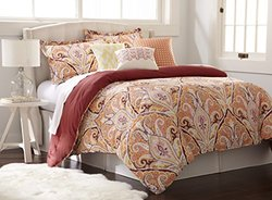 200-thread Count Comforter Set (6-piece): Paisley/king