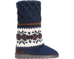 Muk Luks Women's Shawna Slipperboot Winter Boot - Dark Blue - Size: 9
