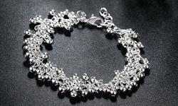 Jewelry Elements Women's Sterling Silver Eternal Life of Pearl Bracelet