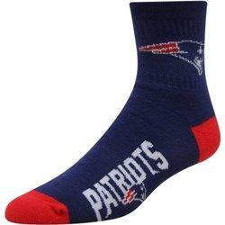 New England Patriots Team Color Quarter Socks Men's Size Medium 5-10