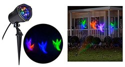 """LightShow 72734 11.81"""" Whirl-a-Motion-Ghost OGPB Stake Light for Halloween"""