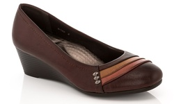 Rasolli Wedge Comfort Career Shoes - Brown - Size: 9