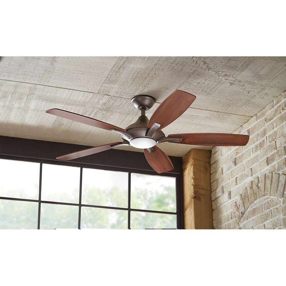 Hdc Petersford 52 In Led Ceiling Fan Brushed Nickel 14425 Check Back Soon Blinq
