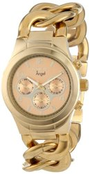 Women's Angel 18K Gold Plated Steel Rose-Tone Dial