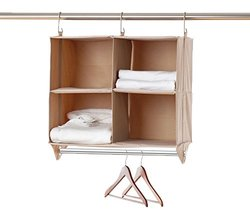 closetMAX 24.5 in. H 4-Cubby Organizer with Hanging Bar