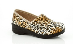 Coco Jumbo Girl's Dawn Printed Clogs - Cheetah - Size: 5