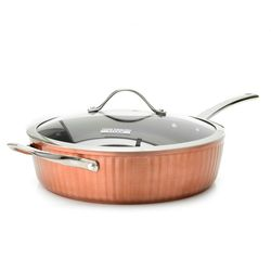 Todd English Wainscott Titanium Ceramic Nonstick Chicken Fryer - Copper