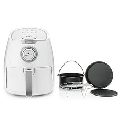 Paula Deen 3.5 QT 1400W Ceramic Nonstick Air Fryer - White