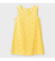 Oshkosh Girl's Eyelet Sun Dress - Yellow - Size: 3T
