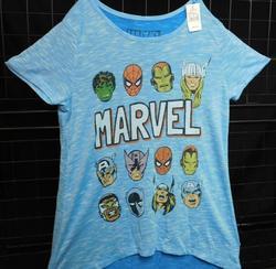 Marvel Superhero Girl's Tee Shirt - Aqurai - Size: Xlarge