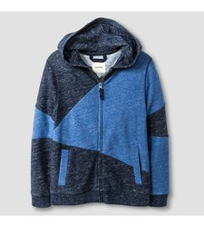 Cat & Jack Boy's Fleece Zip Hoodie - Blue - Size: Small