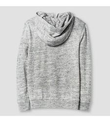 Cat & Jack Boy's Fleece Zip Hoodie - Charcoal - Size: Medium