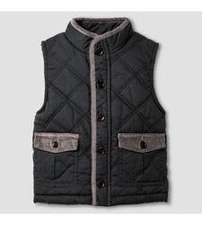 OshKosh Baby Boy's Fashion Vest - Charcoal Leaf - 12M