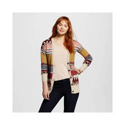 Mossimo Women's Tribal Stripe Boyfriend Cardigan - Multi - Size: X Large