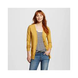 Mossimo Women's Long Sleeves Boyfriend Cardigan - Yellow - Size: Small