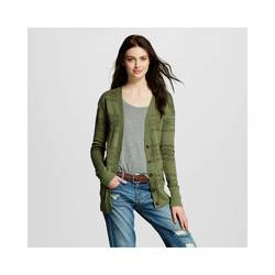 Mossimo Women's Tribal Boyfriend Cardigan - Olive - Size: Small