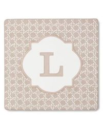 """Threshold Monogram Pillow Cover - Brown - Size: 18"""" x 18"""""""