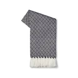 Threshold Metallic Geo Sweater Knit Throw - Blue - Size: One