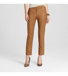 Merona Women's Classic Ankle Pant - Tan - Size: 18