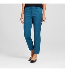 Merona Women's Classic Ankle Pant Jacquard - Blue - Size: 10