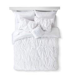 Xhilaration Metallic Dot Sheet Set - White - Size: Queen