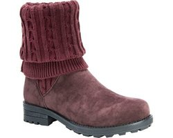 MUK LUKS Women's Kelby Sweater Boot - Red - Size: 9