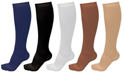 Unisex Graduated Compression Support Socks (5-pack):  Small/medium