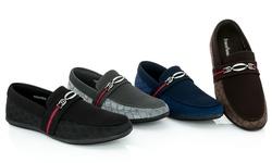 Franco Vanucci Men's Roberto-9 Driver Shoes - Black - Size: 7.5