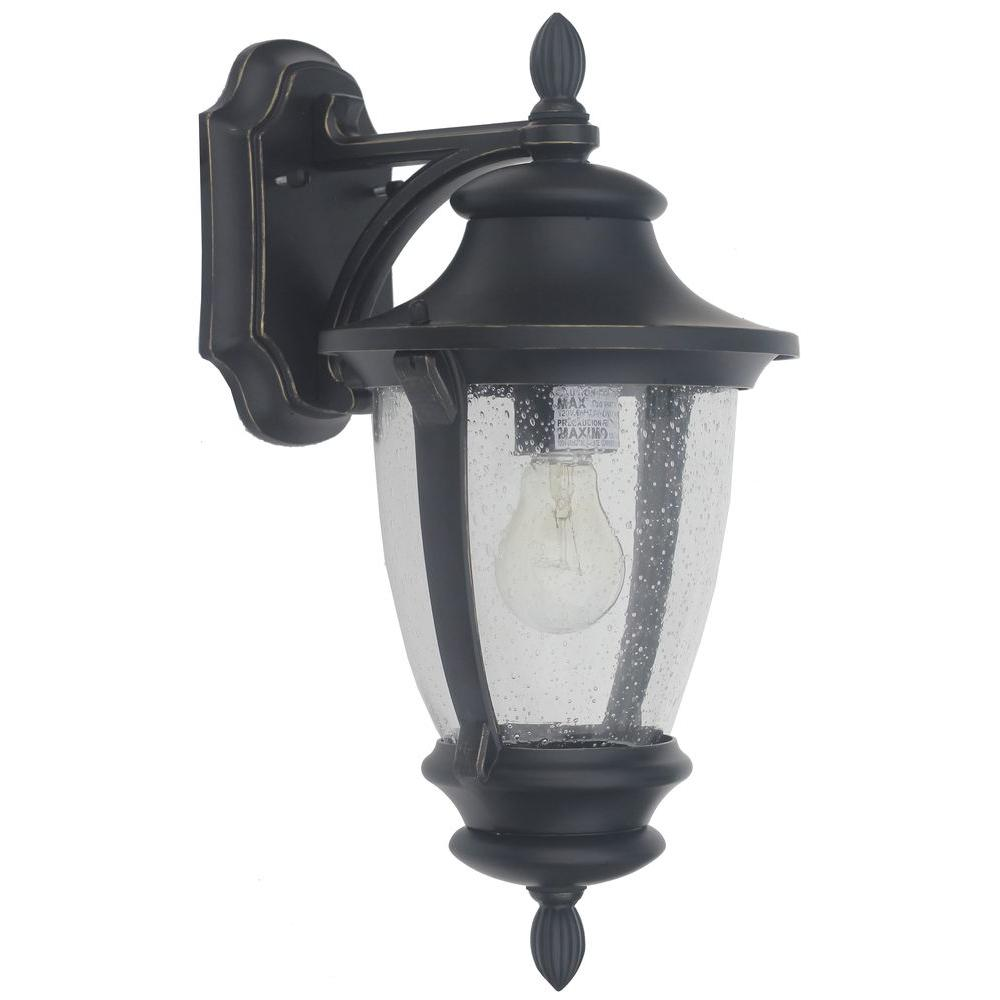 Home decorators collection wilkerson 1 light black outdoor wall mount check back soon blinq