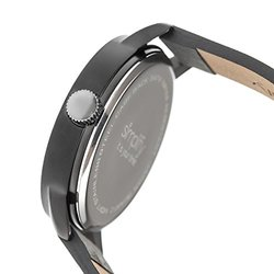 Leather-band Men's Watch 4200: Sim4205 Charcoal Band/white Dial